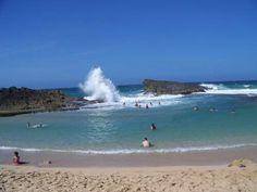 """""""La posa del obispo"""" beach in Arecibo, Puerto Rico I used to go here with my family when I was little"""