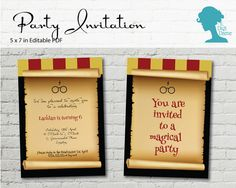Digital Party Printable Invitation: Potter Wizard by digidame