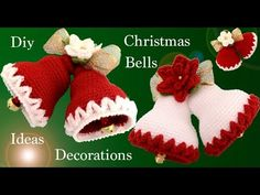 Learn how to crochet some of the most beautiful Christmas jingle bells using the step by step tutorials in different languages Christmas Crafts For Adults, Crochet Christmas Decorations, Crochet Ornaments, Xmas Crafts, Crochet Snowflakes, Christmas Jingles, Christmas Bells, Christmas Items, Christmas Diy