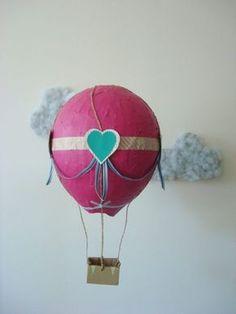 Heißluftballon basteln - 10 originelle Ideen für Groß und Klein mit Anleitung