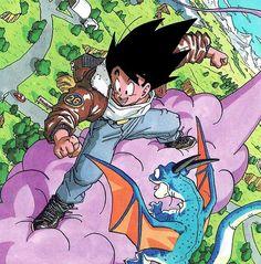 Akira Toriyama official Artwork Scan from Dragon Ball manga Manga Anime, Fanarts Anime, Manga Art, Anime Art, Dragon Ball Gt, Manga Dragon, Kid Goku, Goku 2, Dragon Quest