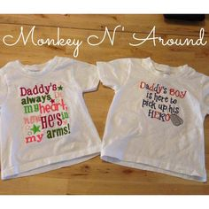 Deployment homecoming shirts for siblings. Get yours here: www.facebook.com/monkeynaroundcreations