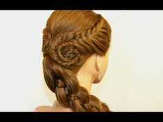 Easy hairstyle for everyday. Fishtail Braids, Four (4) Strand Braid - YouTube