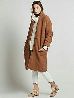Wool coat camel