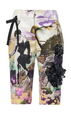 Printed Twill Bermuda Shorts by PRADA for Preorder on Moda Operandi Prada Spring, Neck Piece, Walking By, Dsquared2, Cool Girl, Bermuda Shorts, Women Wear, Swimwear, How To Wear