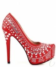 Damske cervene satenove lodicky #pumps #shoes