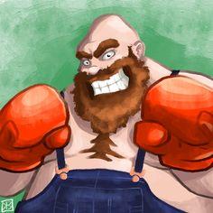 Bear Hugger by Zeefster on DeviantArt Little Mac, Punch Out, Video Game Art, Arcade Games, Videos, Hug, Disney Characters, Fictional Characters, Bear