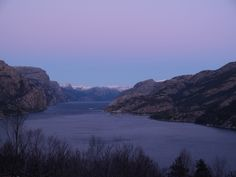 Lysefjorden, Norway: A few minutes before it was too dark to take a good photo (around 4.30 pm). The days are still short, but slowly getting longer! January 6th 2016.
