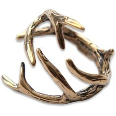 AmazonSmile: Deer Antler Ring (Silver Plated White Bronze, 4): Jewelry ($85) ❤ liked on Polyvore featuring jewelry, rings, accessories, silver plated rings, white ring, deer ring, white jewelry and silver plating jewelry