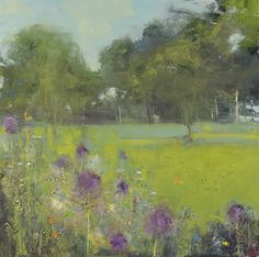 Alliums, Late Afternoon, Cornish Garden by Hannah Woodman
