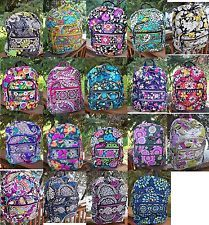 VERA BRADLEY Campus Backpack NEW College School Professional Pattern Variety