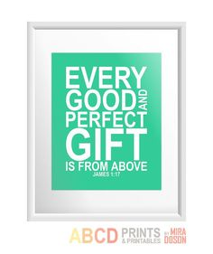 Bible verse bible quote print Every good and perfect by MiraDoson. , via Etsy. Spiritual Words Of Encouragement, Encouragement Quotes, Best Bible Verses, Bible Verses Quotes, Favorite Quotes, Best Quotes, Money And Happiness, Inspirational Bible Quotes, Motivational Quotes