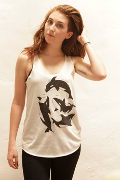 ORCA WHALE tribute to Tilikum tank top by TempleofCairo on Etsy