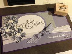Elegant wedding card, stampin up, mr.,flower shop. Thecraftyyogi.blogspot.com