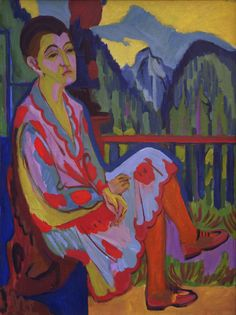 Titolo dell'immagine : Ernst Ludwig Kirchner - Seated lady (Erna K.)