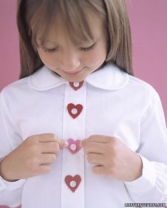 Making these for Ainsley to wear on Valentine's Day.  :-)