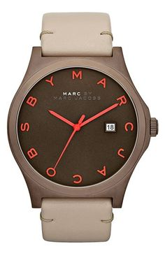 468e2e384c9 Montre pour femme   MARC BY MARC JACOBS Henry Leather Strap Watch available  at Nordstrom Relógio
