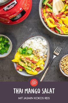 Mit Jasmin Kokos Reis   Guten Reishunger! Nasi Goreng, Thai Mango, Mango Salat, Jasmin, Vegan, Lunch, Dinner, Ethnic Recipes, Easy