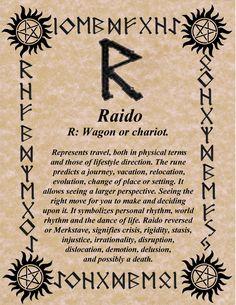 RUNE OF THE DAY! RAIDO FOR RHYTHM! BLESSINGS! GALLAN www.NorseWarlock.com