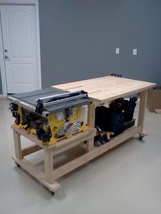 table saw workbench - Google Search: | Woodworking Shop | Pinterest