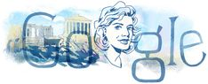 anniversary of the birth of Melina Mercouri Google Doodle Today, Google Doodles, Logo Google, Art Google, Google Homepage, Die A, Google Banner, File Image, Electronic Music