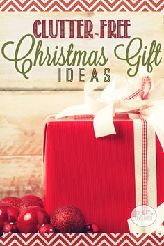 I bet you are like me and wondering where on earth you are going to fit one more gift. Have you considered giving the grandparents a list of clutter-free gift ideas this year?