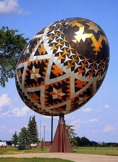 World's Largest Easter Egg (Pysanka) in Vegreville, Alberta