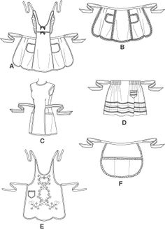 Simplicity 4282 New uncut Apron Sewing Pattern by ucanmakethis Vintage Apron Pattern, Aprons Vintage, Vintage Sewing Patterns, Retro Apron Patterns, Homemade Aprons, Sewing Crafts, Sewing Projects, Cute Aprons, Apron Designs