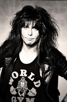 W.A.S.P. Blackie Lawless in Black & white! #BlackieLawless #wasp