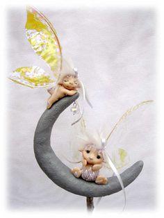 OOAK art doll fairy fae faerie troll gnom Moon by katjasdreamland