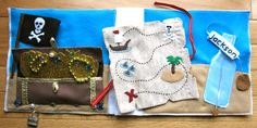 Treasure quiet book page with free pattern and tutorial.