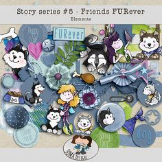 Friends FURever Kit: Get for the puppy photo you took on National Pet Day! National Pet Day, Digital Scrapbooking, Whimsical, How To Draw Hands, Puppies, Kit, Comics, Friends, Shop