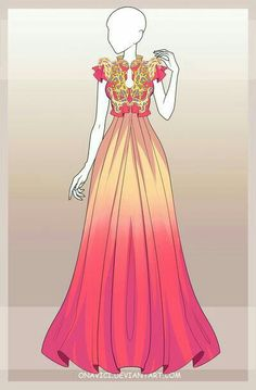 [Closed] Outfit adopt 11 by onavici. on Source by colinpragg dress drawing Dress Drawing, Drawing Clothes, Vestidos Valentino, Anime Outfits, Cool Outfits, Anime Dress, Fantasy Dress, Fashion Art, Fashion Design