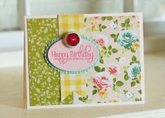 Easy card idea - can be duplicated with all different kinds of paper and greetings.