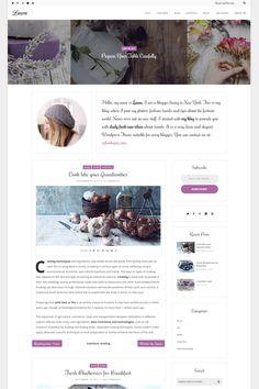 Laura - A Feminine Blog WordPress Theme Big Screenshot