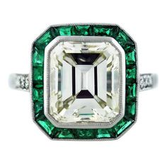 Emerald Wedding Engagement Rings