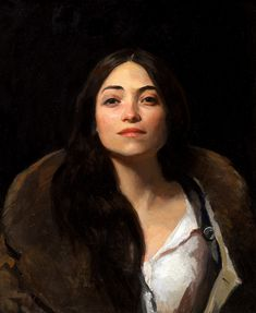 """Candy"" - Marc Dalessio, oil on canvas, 2012 {contemporary figurative artist female head woman face portrait painting}"