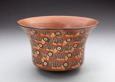 Nazca South coast, Peru  Bowl Depicting Rows of Spotted Birds, 180 B.C./A.D. 500  Ceramic and pigment 11.8 x 18.7 cm (4 5/8 x 7 3/8 in.) Gift of Nathan Cummings, 1957.429 http://www.artic.edu/aic/collections/artwork/6404?search_id=16&index=0