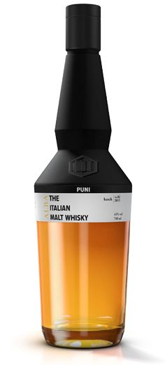 PUNI Whisky Distillery - The Italian Malt Whisky.  The only only Italian whisky there's ever been.  Wonderful idea and epically beautiful and innovative packaging and product design.