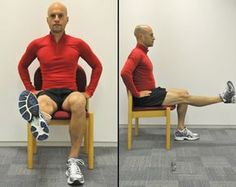 """Exercises I've been doing to strengthen the muscles around my knee and ease """"runner's knee""""."""