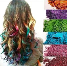 Younique pigments can be used as hair chalk!! Just wash it right out! Buy your's today @ https://www.youniqueproducts.com/joannefenton