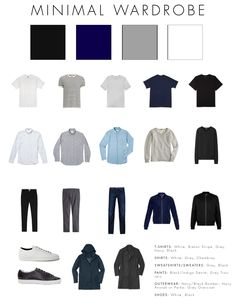 A Basic, Minimal Wardrobe is part of Minimalist wardrobe - Post with 1607 votes and 112638 views A Basic, Minimal Wardrobe Capsule Wardrobe Casual, Mens Wardrobe Essentials, Men's Wardrobe, Minimalist Wardrobe Men, Minimalist Fashion, Mode Man, Style Masculin, Fashion Capsule, Inspiration Mode