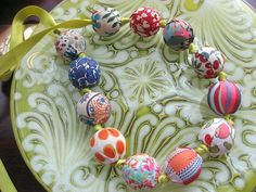 LIBERTY OF LONDON FABRIC BEAD NECKLACE
