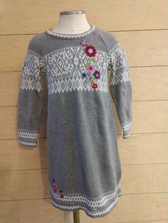 8b1f9910ae32 GIRLS HANNA ANDERSSON SWEATER DRESS tunic size 120 (6-7) FAIR ISLE GRAY   fashion  clothing  shoes  accessories  kidsclothingshoesaccs   girlsclothingsizes4up ...
