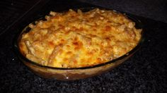 Chilli baked beans mince and mac pie