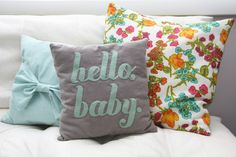 DIY pillows with words on them by Jenica Sparks how to make a pillow cover