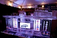 Ice Martini Lounge at Winter Magic Festival on Elm Street