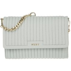 DKNY Gansevoort Pinstripe Quilted Lamb Nappa Marble  in grey, Shoulder... ($240) ❤ liked on Polyvore featuring bags, handbags, shoulder bags, grey, quilted chain handbag, dkny shoulder bag, grey purse, chain handbags and shoulder handbags