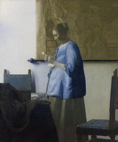 Vermeer 18.3 in by 15.4 in http://upload.wikimedia.org/wikipedia/commons/d/db/Vermeer%2C_Johannes_-_Woman_reading_a_letter_-_ca._1662-1663.jpg