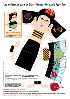 Frida Kahlo Papertoy / Graphic Design by Quique Fdez. / Didactalia 2013
